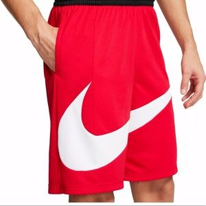 Nike Dri-FIT HBR Red Basketball Shorts Size M Mens